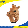 PVC Giraffe Toy Animal Ring for Kids Wild Animal Figure