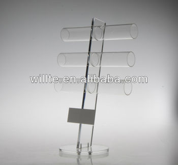 Acrylic bangle organizer ,T-shape bangle stand , exquisite stand for jewelry