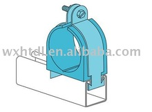 zinc horizontal vertical pipe bonding clamp with cushion