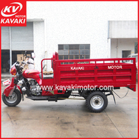 Loncin spare parts 200cc 250cc heavy load cargo semi closed motorcycle/chinese cargo two seats tricycle with cabin
