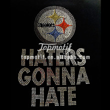 Steelers Hot Fix Rhinestone T Shirt Transfers Iron On Designs