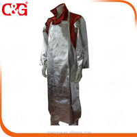 High temperature and splash protection Aluminized apron