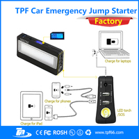 TPF new arrival car model portable lithium battery car jump starter power bank with 16200mah