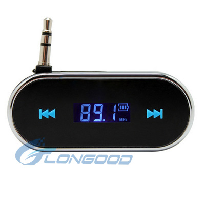 Brand New built in battery music playing 3.5mm jack FM transmitter for car or phones with LCD display