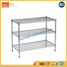 NSF&CE approved heavy duty easy assemble chrome sliding wire shelf