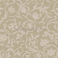 Natural Flower Pvc Wallpapers for Bedrooms / Home Decor Wholesale Wall Paper Wall Coating