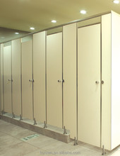 Public Toilet Cubicle Phenolic HPL Toilet Partition System Stainless Steel Hardware Bathroom Partition