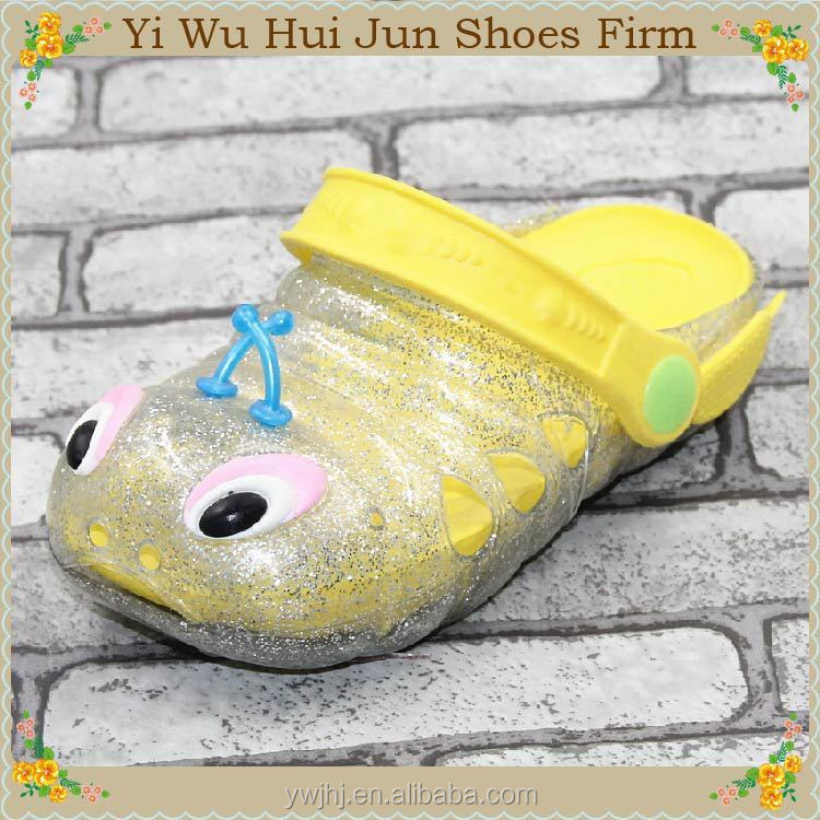 candy color jelly flat plastic slippers cute animal slipper childrens