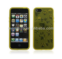 Nice Footprint 3D TPU Skin Soft Gel Case for iPhone 5,with 2 sort models
