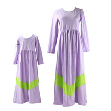 Mommy and Me Miax dress Ladies and Girls dress Mother and Dauthter Maxi kids long cotton wholesale fashion lanvender Maxi Dress
