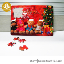 Christmas children's gift cardboard paper jigsaw puzzle games/ 3D wooden puzzle