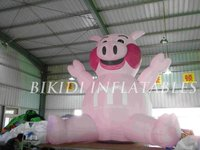 inflatable pink pig