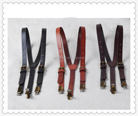 High quality Fashion genuine leather women suspenders