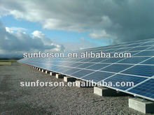 Stand alone off grid ground solar panel structure