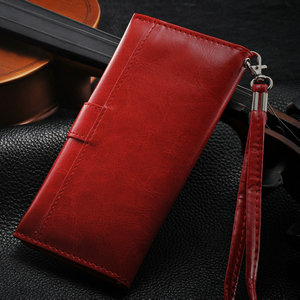 Luxury red wallet case for iphone 5/5s , retro leather case for iphone 5/5s , woman handbag