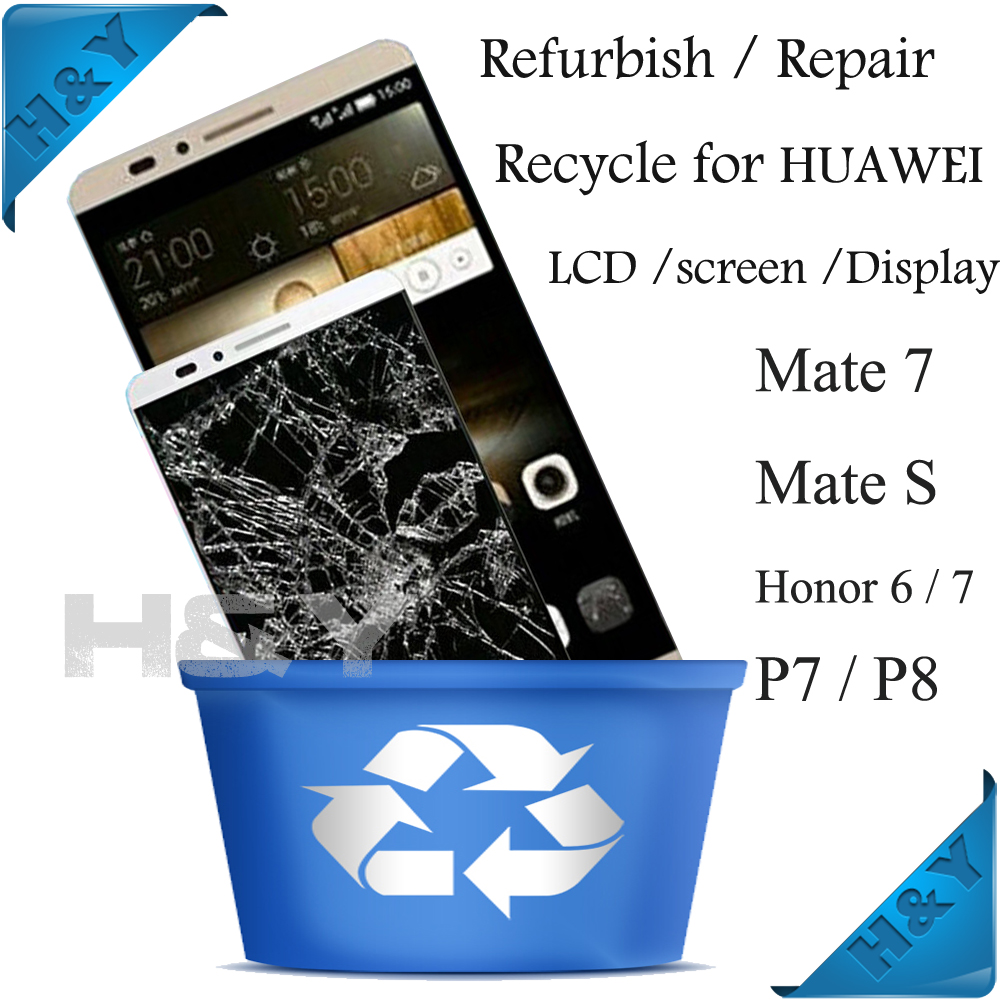 LCD Recycle, cracked front glass touch panel Recycle buy for samsung galaxy s3