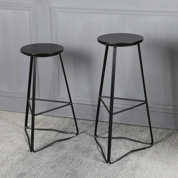 Modern Simple Industrial Metal Bar Stools For Dinning