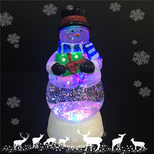 Battery Operated Electric Led Lighted Fiberglass Acrylic Christmas Decoration Ornaments Water Ball Snow Globe Snowman