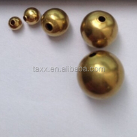 Ex-stock hollow copper ball/brass ball for jewellery 20mm with holes drilled through ball
