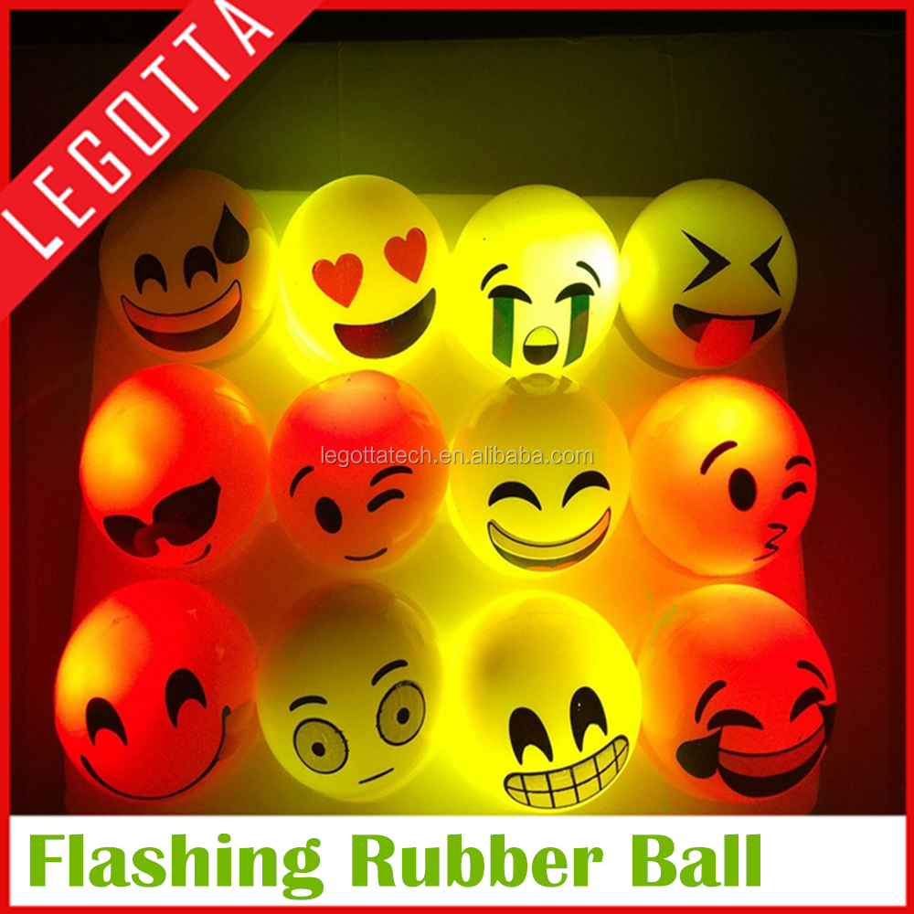 New Christmas gift fanny led rubber bouncing ball new flashing gift