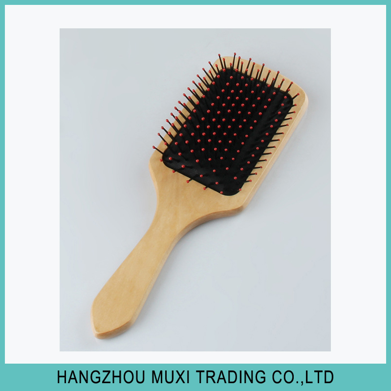 Wholesale retail cheap goat hair brush wooden hair brush plastic from factory
