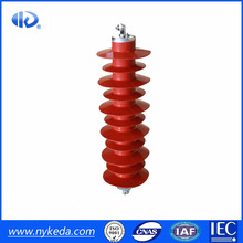 high voltage Polymeric Cross Arm Insulator Surge Arrester 35kV in Power Zinc oxide lighting arrester