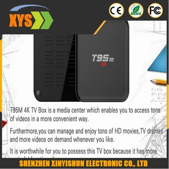 T95M Smart Android TV Box Set Top Box Amlogic S905 Quad Core 64Bit Android 5.1 4K HD 2.4GHz Kodi 16.0 Smart Media Player