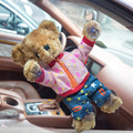 Plush Electronic Animal Dancing Toy with Sucker in Car Window