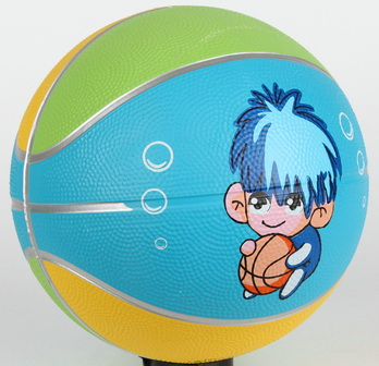 Rubber colorful Basketball size 3 cartoon printing soft touch