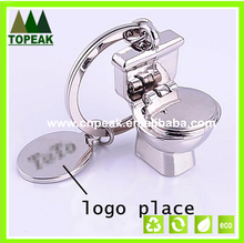 Manufacturers wholesale gift toilet key chain, delicate closestool custom LOGO, advertising gifts