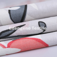 100 % cotton printing bamboo strip woven fabric