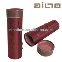 hot sale durable fabric leather wine box