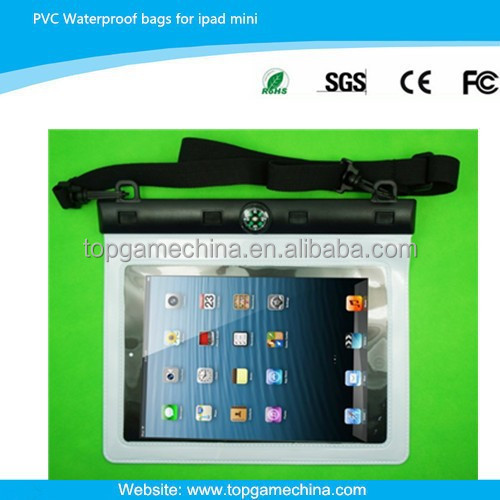 pvc waterproof case for ipad mini mobile phone bags & cases
