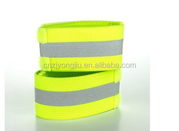 yellow reflective arm band