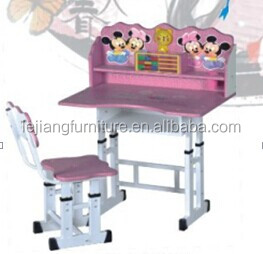 beautiful design cartoon shape school desk and chair for kid