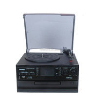 Optional bluetooth cd usb sd radio cassette vinyl lp record player