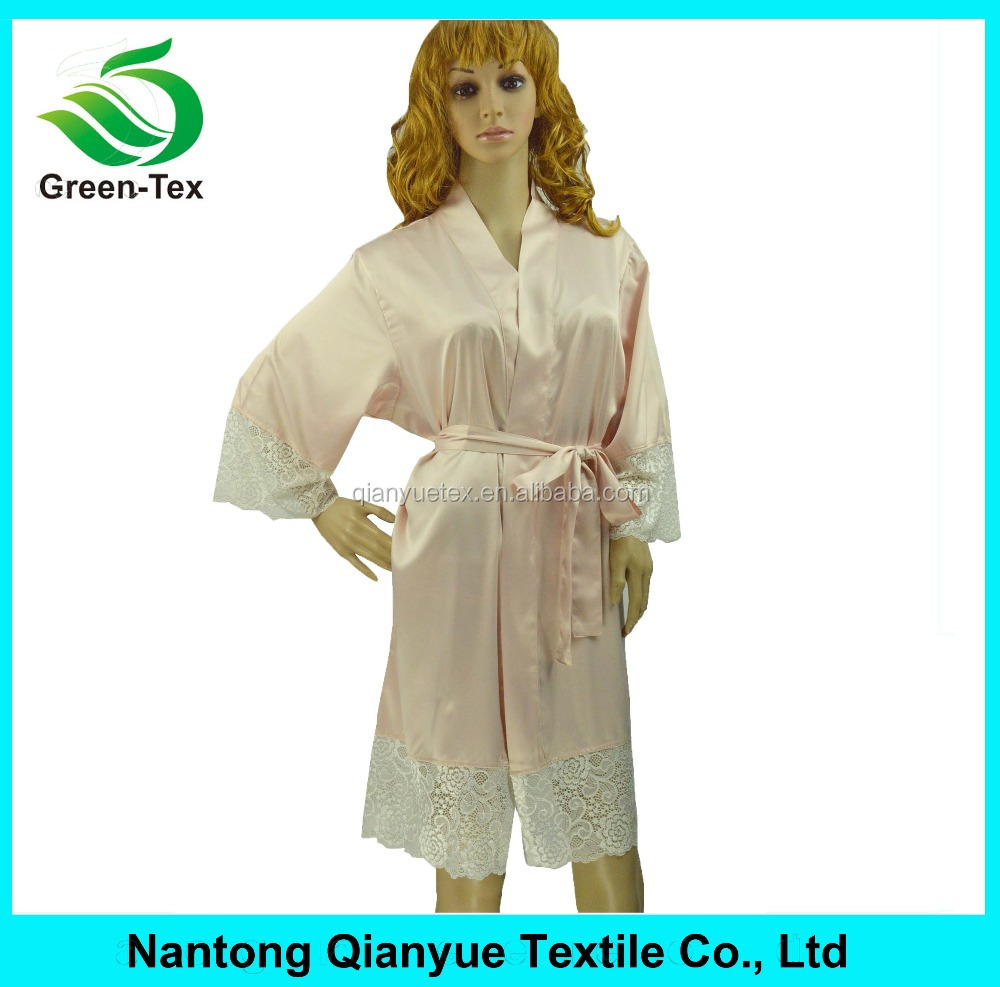 Wholesale Women Satin Robes Mature Sexy Comfortable Sleepwear