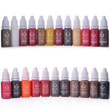 Permanent Tattoo Makeup Pigment Cosmetic Inks For Eyebrow Lips makeup 15ml/Bottle 10pcs/set