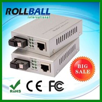Ethernet to optical auto sensing simplex sm 10/100/1000M 1550nm 1310nm media converter