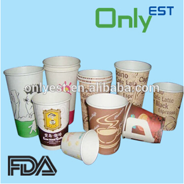 Food grade disposable cold drinks double pe paper cup for USA market