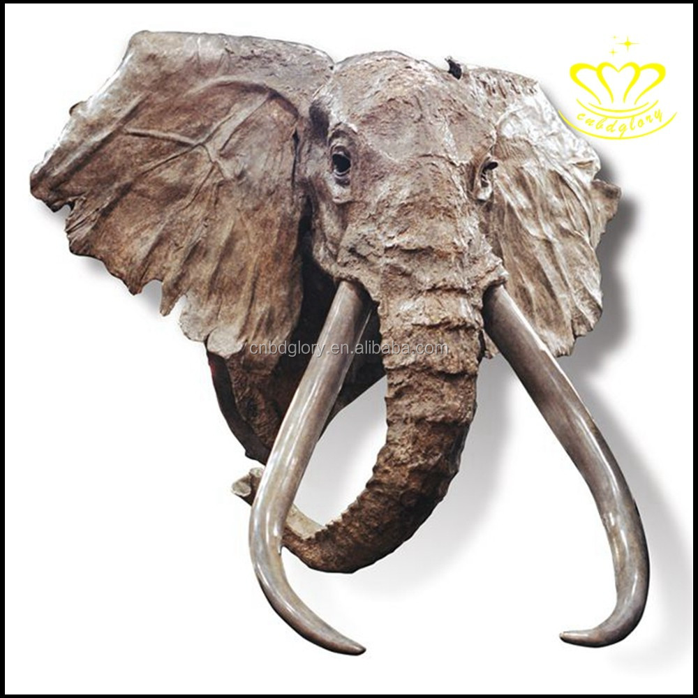 European modern home fashion living room wall pendant decor resin crafts animal elephant head