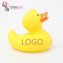 Logo printed promotion gifts yellow toy rubber duck
