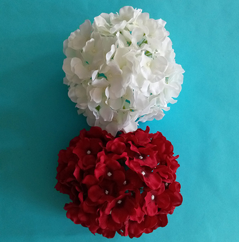 Silk flower of Hydrangea flower for wedding bouquet
