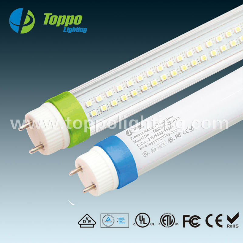 China led light manufacturer,DLC ETL listed led listed 4ft led light tube T8 18w SMD2835 1.2m 1840lm