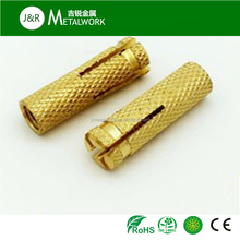 Factory price M8 M12 M24 Knurled Brass drop in Anchor