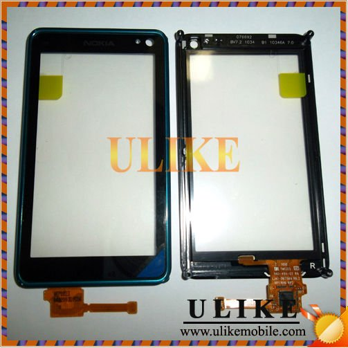 For Nokia N8 Touch Digitizer Screen With Frame