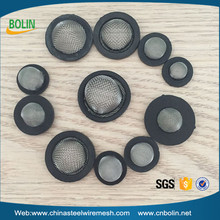 Rubber plastic Bound Stainless Steel 40 60Mesh Washer Hose Filter