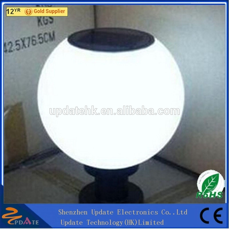 Garage Shop Lights Solar Garden Globe Light LED Pillar Ball Lamp Mounted Vertically or Flatly