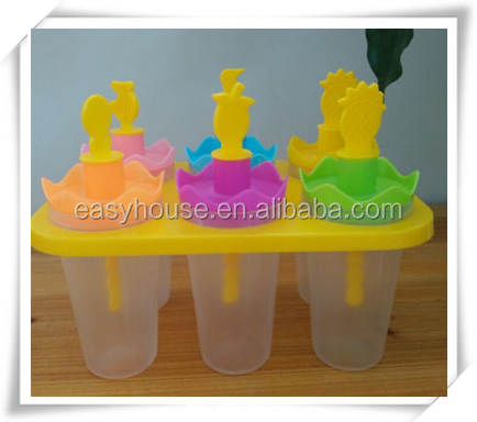 customized plastic ice cream pop container/ice lolly mold ic002