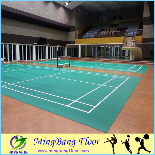 BWF badminton court floor PVC floor synthetic sports mat
